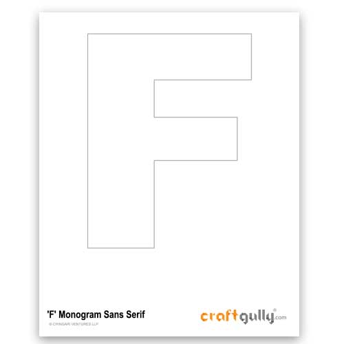 Free CraftGully Printable - Monogram Sans Serif - F