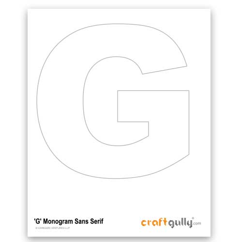 Free CraftGully Printable - Monogram Sans Serif - G