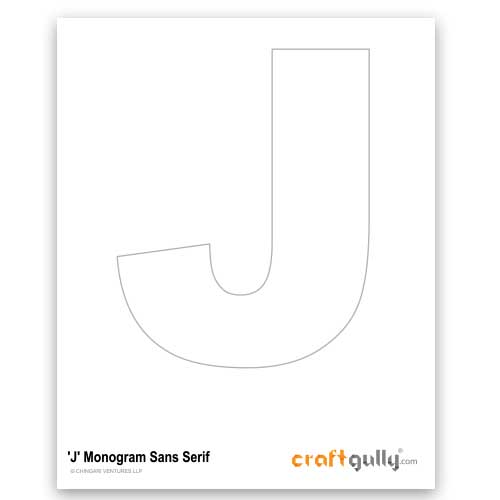 Free CraftGully Printable - Monogram Sans Serif - J