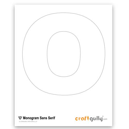 Free CraftGully Printable - Monogram Sans Serif - O