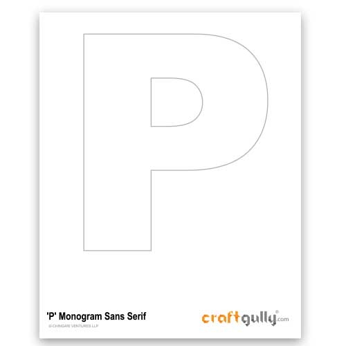 Free CraftGully Printable - Monogram Sans Serif - P