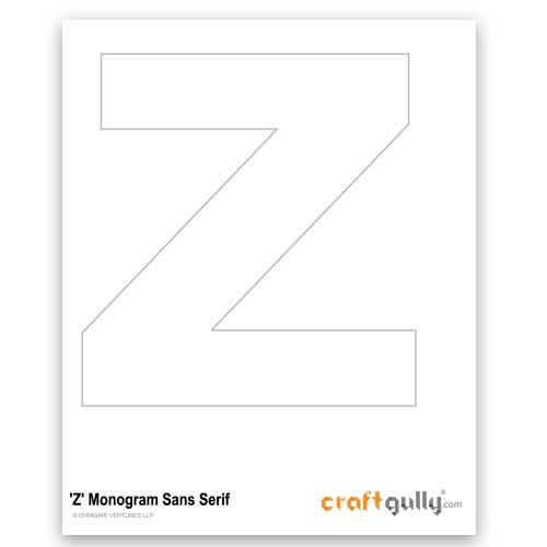 Free CraftGully Printable - Monogram Sans Serif - Z