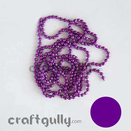 Ball Chain 1mm - Purple Color - 9 Feet