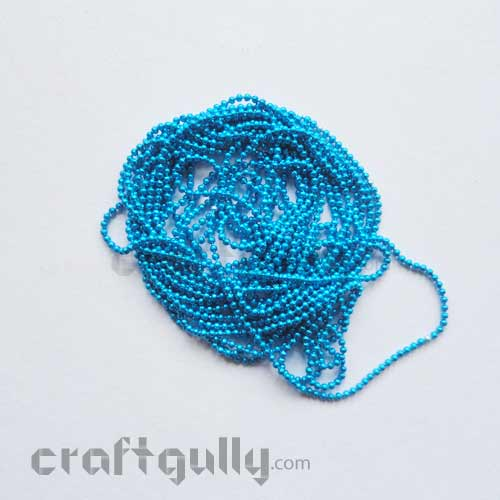Ball Chain 1mm - Cerulean Blue - 9 Feet