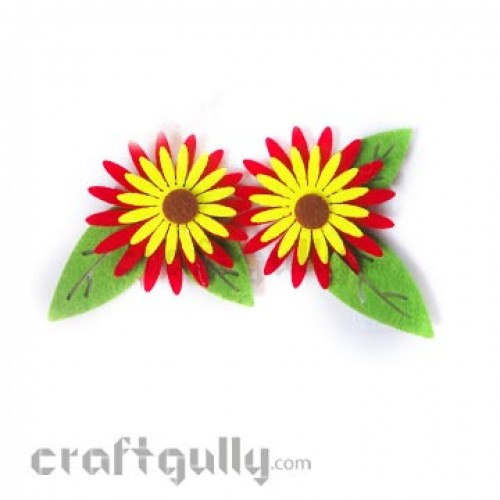 Die-Cut Felt Daisy 85mm Pack of 2