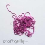 Ball Chain 2mm - Dark Pink - 9 Feet