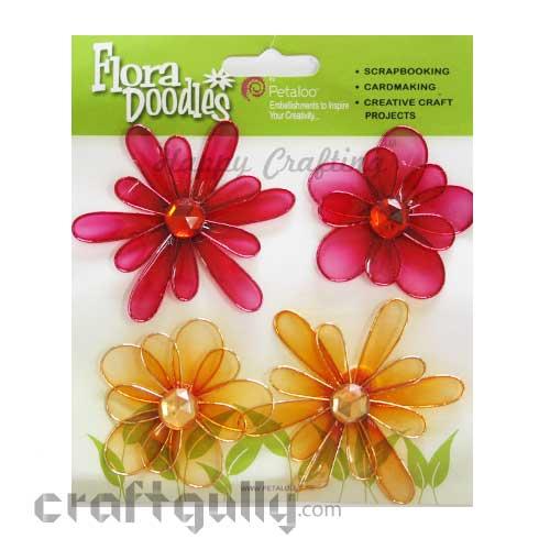Petaloo Flora Doodles Jewelled Candies - Dark Pink & Orange