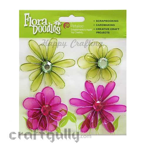 Petaloo Flora Doodles Jewelled Candies - Green & Pink