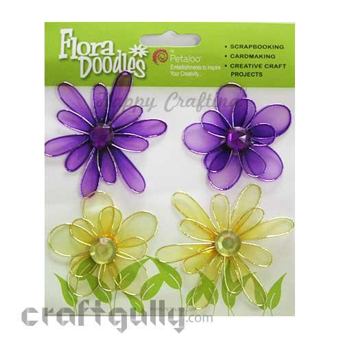 Petaloo Flora Doodles Jewelled Candies - Purple & Yellow
