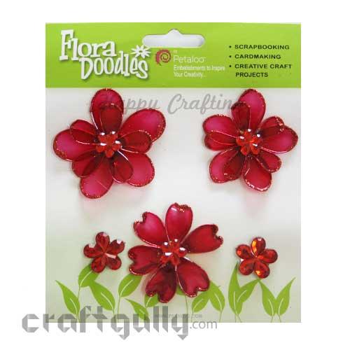 Petaloo Flora Doodles Mini Candies - Dark Pink