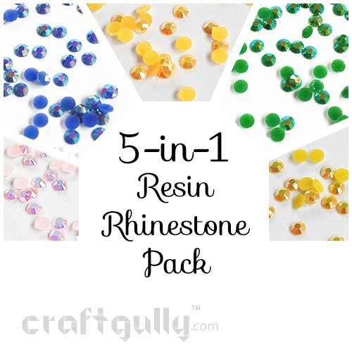 Rhinestones 5mm - Resin - 5 Color Pack