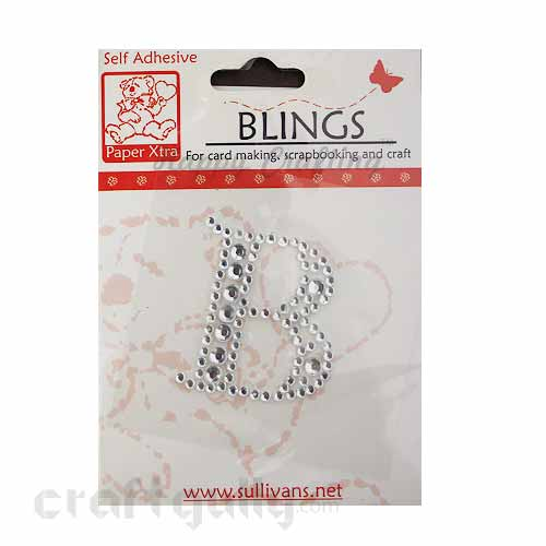 Rhinestone Stick-ons - Alphabets / Letters - B