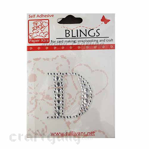 Rhinestone Stick-ons - Alphabets / Letters - D