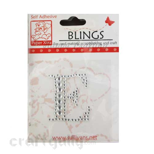 Rhinestone Stick-ons - Alphabets / Letters - E