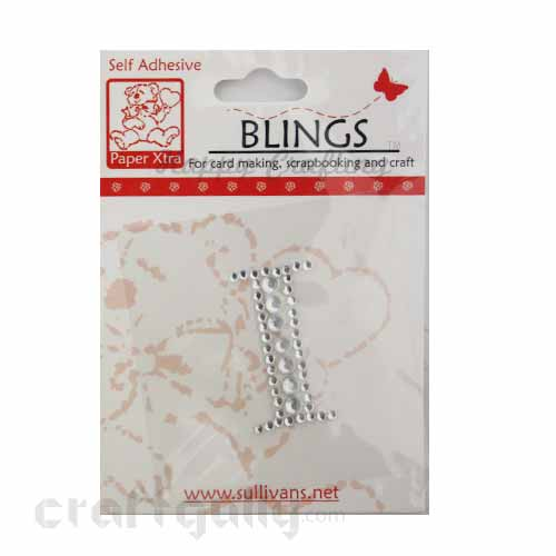 Rhinestone Stick-ons - Alphabets / Letters - I