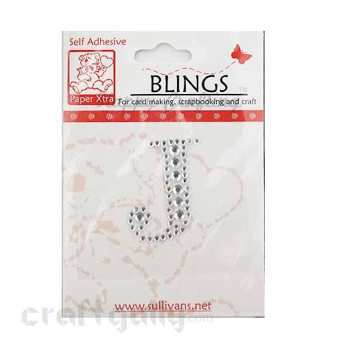 Rhinestone Stick-ons - Alphabets / Letters - J
