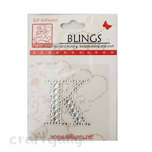 Rhinestone Stick-ons - Alphabets / Letters - K
