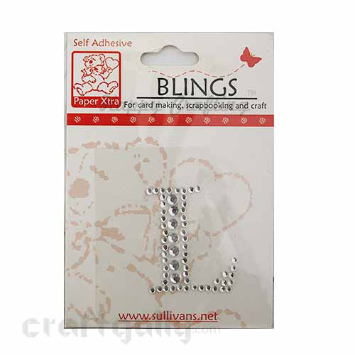 Rhinestone Stick-ons - Alphabets / Letters - L