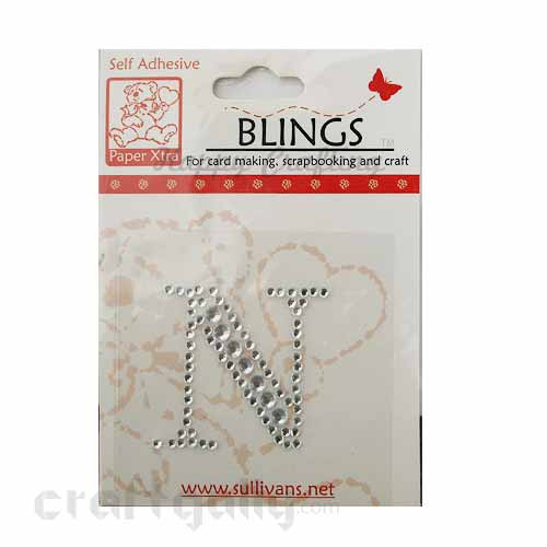 Rhinestone Stick-ons - Alphabets / Letters - N