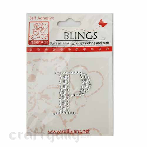 Rhinestone Stick-ons - Alphabets / Letters - P