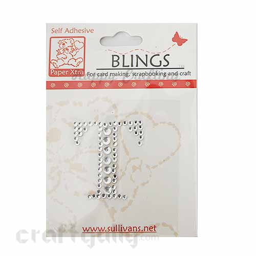Rhinestone Stick-ons - Alphabets / Letters - T
