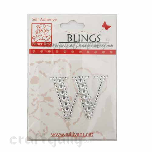 Rhinestone Stick-ons - Alphabets / Letters - W
