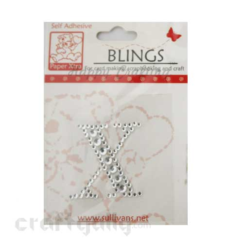 Rhinestone Stick-ons - Alphabets / Letters - X
