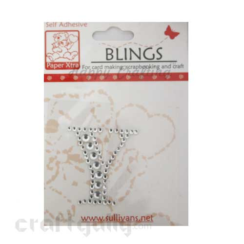 Rhinestone Stick-ons - Alphabets / Letters - Y