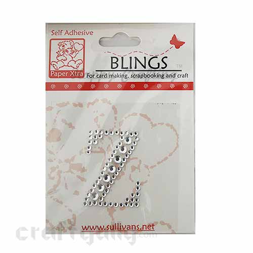 Rhinestone Stick-ons - Alphabets / Letters - Z