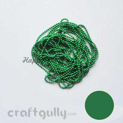 Ball Chain 1mm - Dark Green - 9 Feet