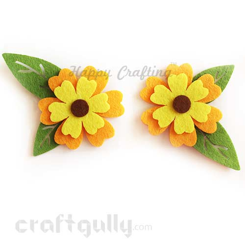 Die-Cut Felt Multi-Petal 100mm - Pack of 2