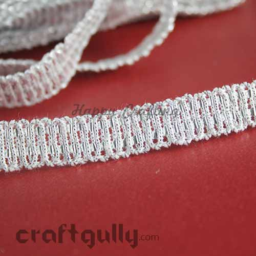 Designer Laces #12 - 10mm - Infinity - Silver - 3 Meters