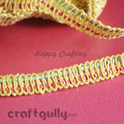 Designer Laces #13 - 10mm - Infinity - Red & Green - 3 Meters