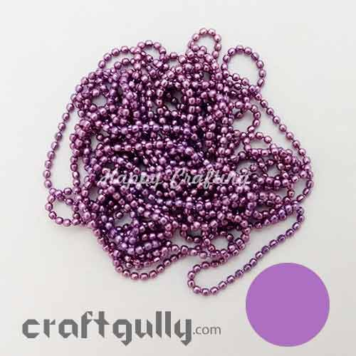 Ball Chain 2mm - Rose Pink - 9 Feet
