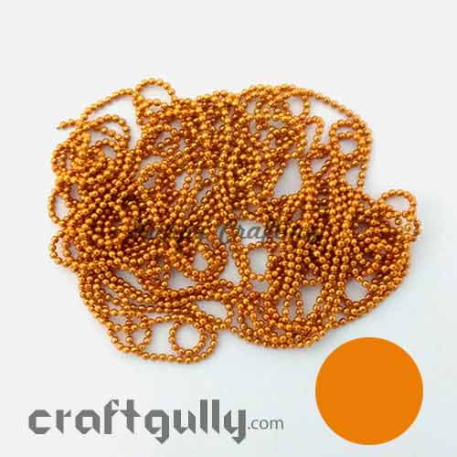 Ball Chain 1mm - Orange - 9 Feet