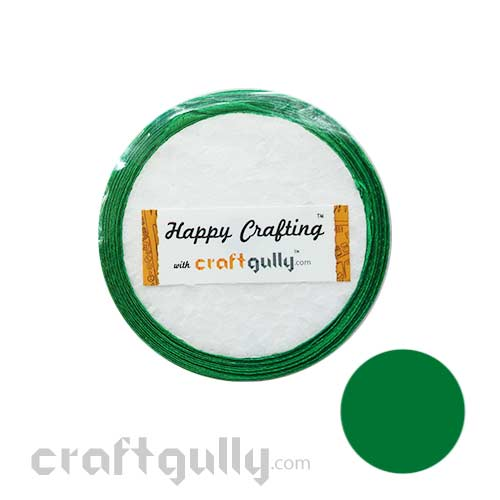 Satin Ribbons 1/4 inch - Bottle Green - 8 meters