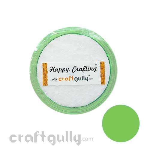 Satin Ribbons 1/2 inch - Light Green - 7 meters