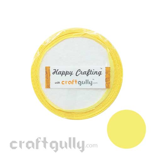 Satin Ribbons 1 inch - Lemon Yellow #2 - 8 meters