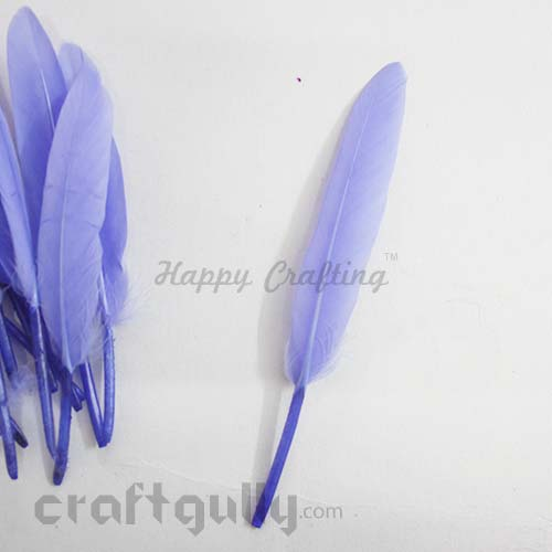 Feathers #2 - 90mm - Violet - Pack of 2