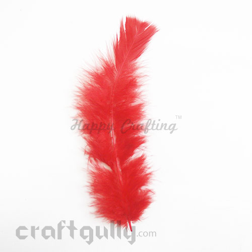 Feathers #3 - 160mm - Red - Pack of 1