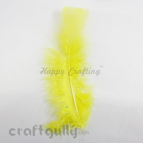 Feathers #3 - 160mm - Sunflower Yellow - Pack of 1