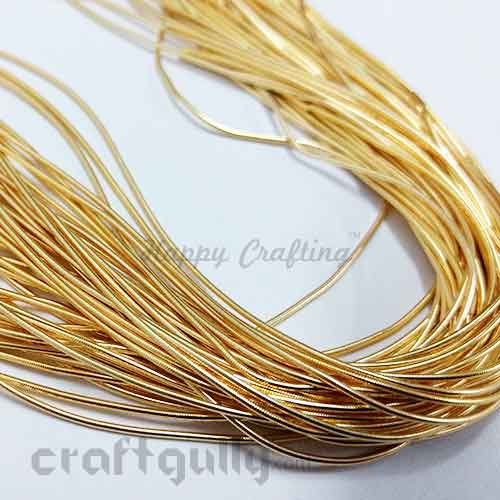 Zardosi Thread 0.5mm - Golden #2 - 36inches