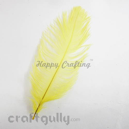 Feathers #6 - 160mm Ostrich - Sunflower Yellow - Pack of 1