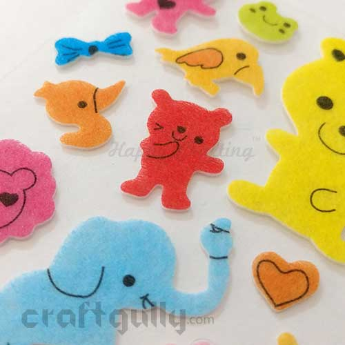 3D Felt Stickers #1 - Zoo