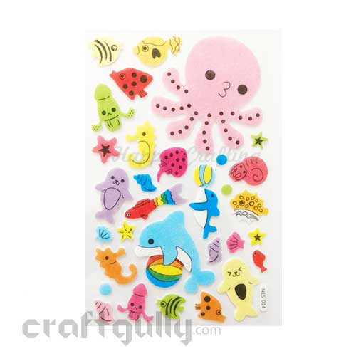 3D Felt Stickers #2 - Marine