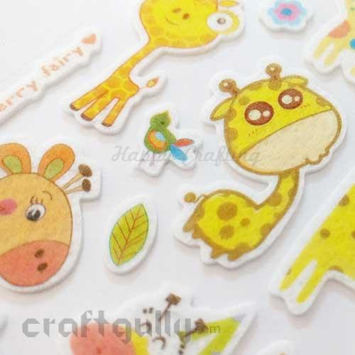 3D Felt Stickers #3 - Giraffe