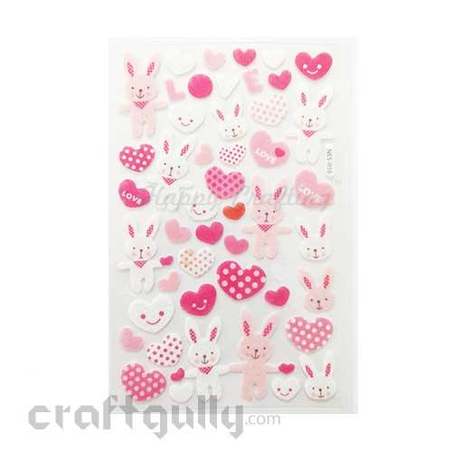 3D Felt Stickers #5 - Bunny Love