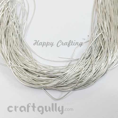 Zardosi Thread 0.5mm - Silver - 36inches