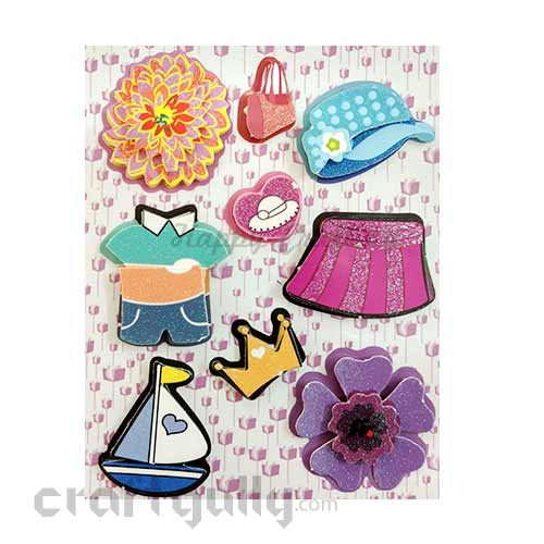 3D Paper Stickers #19