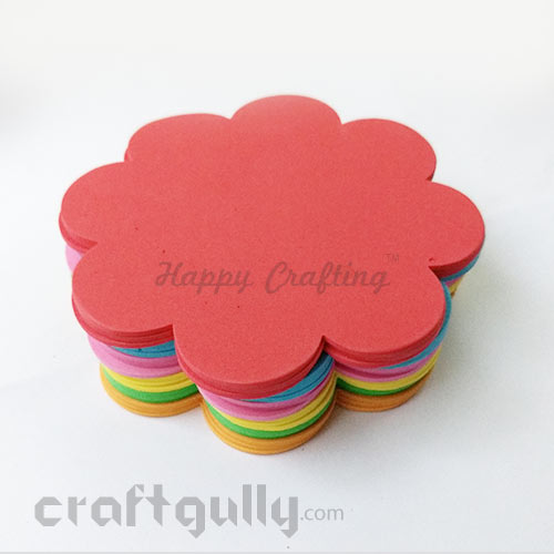 Foam Shapes 120mm - Flower - Assorted - Pack of 18